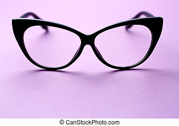 Black frame glasses with lenses