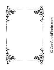 Black frame of roses