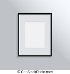 Black frame on a wall vector background design for your content. Vector illustration EPS10.