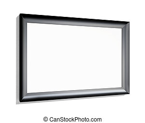 Black frame on a white background. 3d rendering