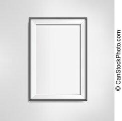 Black frame on grayscale background - Black simple modern...