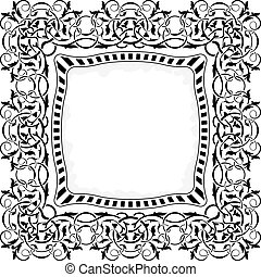 black , frame, randversiering