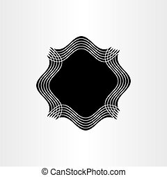 black frame text box element vector background design abstract