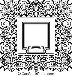 Black frame with ornamental border