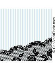 Black French lace background, horizontal