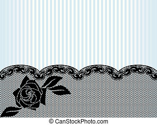 Sexy background with a French lace design. Graphics are grouped and in several layers for easy editing. The file can be scaled to any size.