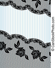 Black French lace background, vertical - Sexy background...