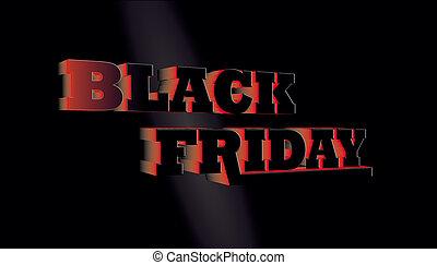 black friday 3D