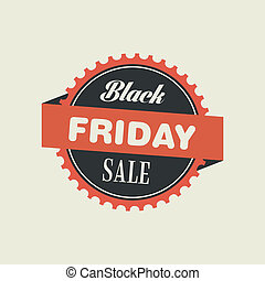 Abstract black friday object on a white background