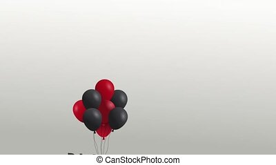 Black friday advert with balloons HD animation - Black...