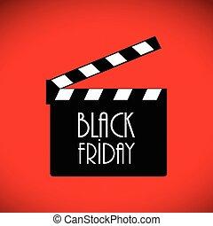 black friday advertising banner, movie night banner