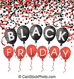 Black Friday Balloons Confetti