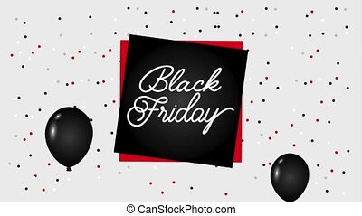 black friday banner balloons dotted background black friday...