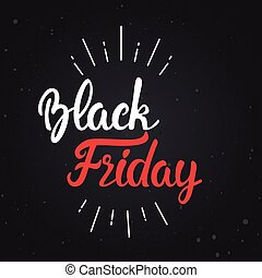 Black Friday Banner Calligraphy Text Design Holiday Discount Concept