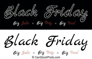 Black Friday - Big sale, big day, big deal. Description on...