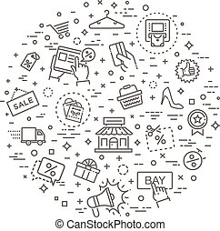 Black Friday Big Sale concept illustration