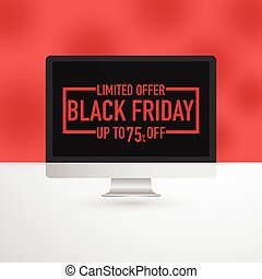 Black Friday computer advertisement
