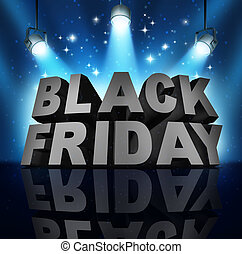 Black Friday - Black friday sale banner sign as three...