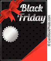 Black Friday blank banner design