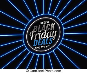 black friday blue neon style sale banner