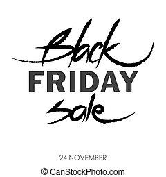 Black Friday calligraphic poster
