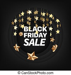 Black friday card with calligraphic inscription