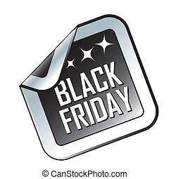 black friday - a black and white icon with white text for...