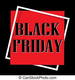 Black Friday design template. Sale square banner.