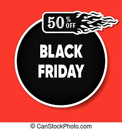Black friday discount round banner