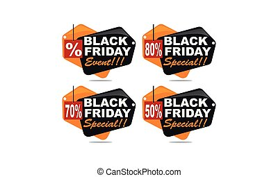 Black Friday Discount Template Set