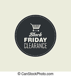 Black Friday - abstract black friday label on a white...