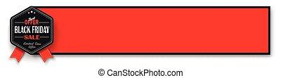 Black Friday Emblem Red Banner