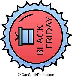 Black friday gift color gradient vector icon