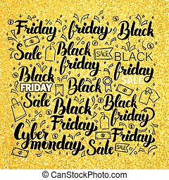 Black Friday Gold Lettering