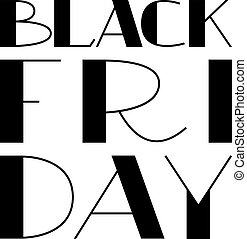 Black Friday hand drawn lettering text