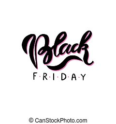 Black Friday. Hand drawn lettering