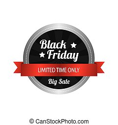 Black Friday - Abstract black friday object on a white...