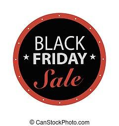 Black Friday Label - black friday sale label. Vector...