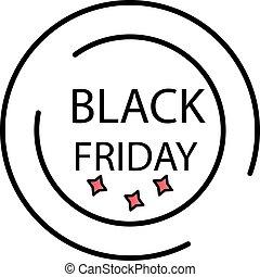 Black friday label color gradient vector icon