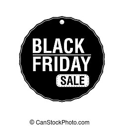 Black friday labels - Isolated label with text and discounts...