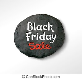 Black Friday lettering and plasticine round banner