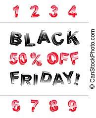 Black Friday lettering banner kit of 3d letters