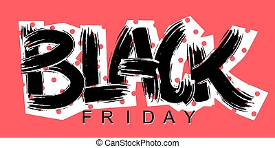 Black Friday lettering calligraphy poster