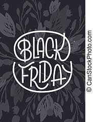 Black Friday lettering on dark background