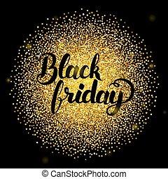 Black Friday Lettering over Gold