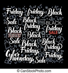 Black Friday Lettering Set