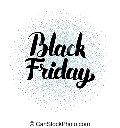 Black Friday Lettering Silver Poster