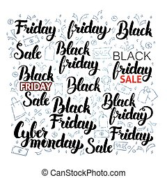 Black Friday Lettering with Doodles