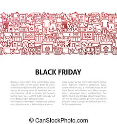 Black Friday Line Design Template