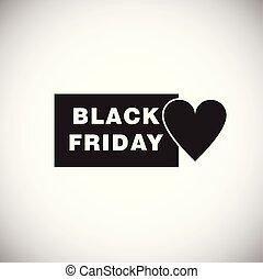 Black friday love on white background